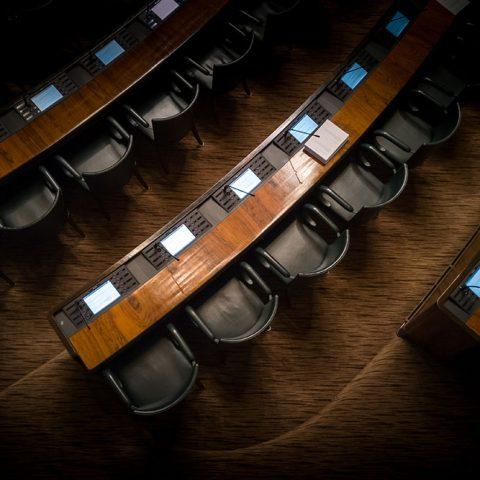 Overhead picture of congress floor