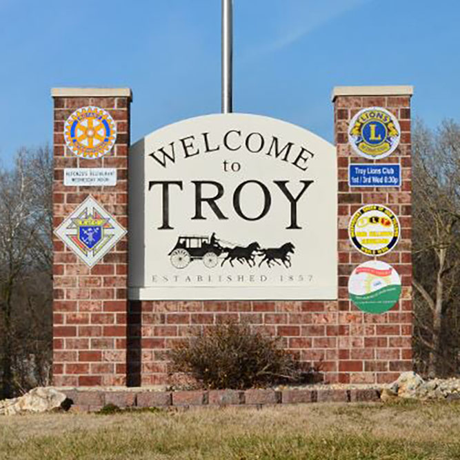 Welcome to Troy, Illinois