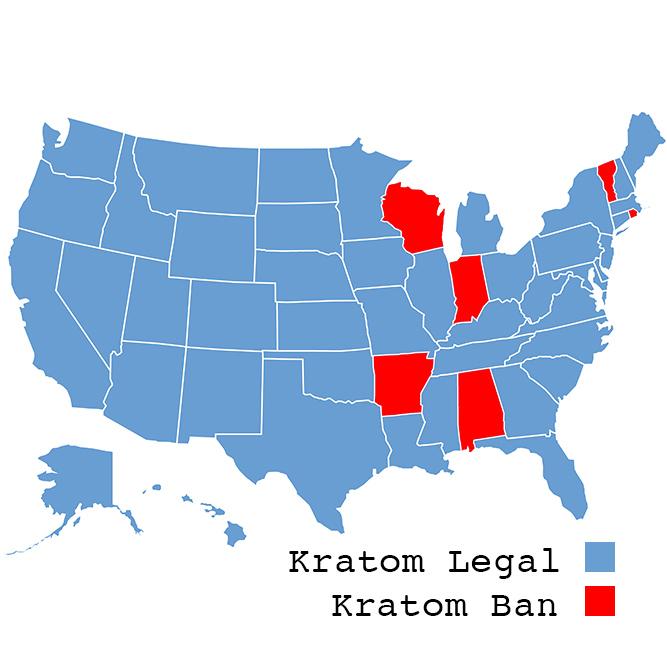 Kratom Ban Map